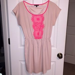 Express lace accent dress